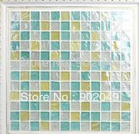 Crystal glass mosaic background wall bathroom tile bathroom floor tiles SH-76