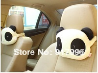 free shopping Hot Selling 1pcs Cute Lovely Panda Pattern Car Seat Neck / Head Pillow Soft Back Cushion