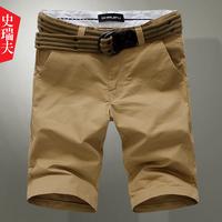 2013 summer male casual shorts male beach pants capris male straight knee-length pants