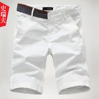 Sports beach casual capris slim white male summer shorts
