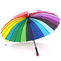 Princess umbrella oem 24k rainbow umbrella 24 umbrellas long-handled umbrella straight handle umbrella(China (Mainland))