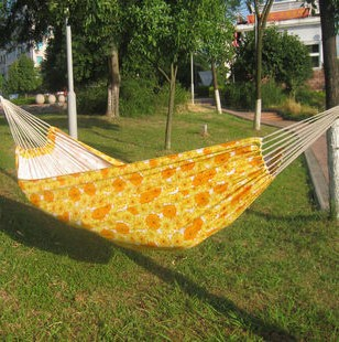 Canvas 200 X 100cm Single hammock tourism camping hunting Leisure Fabric Stripes freeshipping dropshipping(China (Mainland))