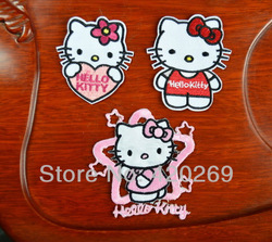Lovely hello kitty Iron On Patches, Made of Cloth Guaranteed 100% Quality Appliques(Can also sew on clothes)+ Free Shipping!!!(China (Mainland))