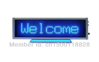 FAST&Free shipping (1pieces/lot)LED display LED sign LED screen LED billboard 100% LED Manufacturer sale16*64 Pixel Blue color