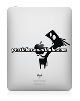 Free Shipping Black Vinyl Sticker Decal for iPad/iPad Mini Sticker Decal Skin Humor Art Sticker