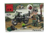 No.829 Paravane Enlighten Building Block Set,3D Construction Brick Toys, Educational Block toy for Children