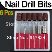 10 sets(6pcs/set) Professional nail drill Kit Bits file For Electric Drills & Filling System