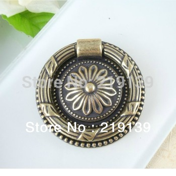 NEW FREE SHIPPING Round Furniture Zinc Alloy Handle Cabinet Pulls And Knobs Antique Drawer Kitchen Bar