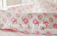 Wholesale Cotton fleece fabric / baby safety fabric / pink baby elephant and bird / 1.5 m wide/0012