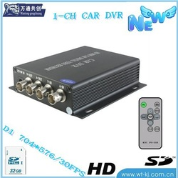 32G 1-CH Car DVR with BNC;MPEG-4 1ch SD card car DVR ;D1 High definition HDD car DVR(China (Mainland))