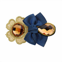 070211 sunflower bow hairpin hair accessory hair accessory hair pin hair accessory clip big clip