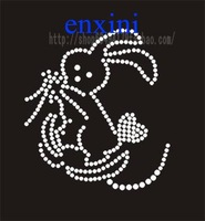 Diy rhinestone sweater neckline rhinestones chest hot map rabbit pattern