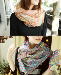 (Min order is $10) E8220 queer the mayan mercerized cotton irregular scarf national trend Large scarf(China (Mainland))