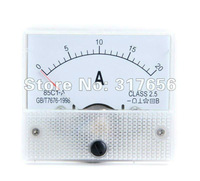 Free shipping,White 20A Analog Ampere Panel Meter Current Amp NEW