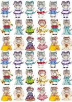 Hot-selling t-119 cat fabric decoration heat press 21 29cm light color cloth iron-on heat transfer