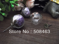 Free ship!!! 2013 NEW 20sets/lot 16mm glass globe & bronze earring base set glass cover DIY Glass bottle vial jewelry