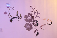 large classic flower wall stickers for bedroom fashion creative home decor self-adhesive 3d stickers for kitchen new  2014