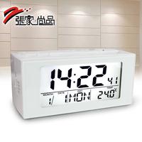 Lounged luminous mute clock electronic clock alarm clock