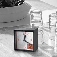 Elsh alarm clock pointer led night light humidity temperature meter clock lounged mute alarm clock table