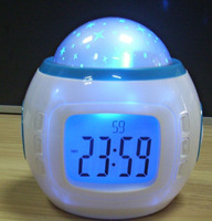 Music projection clock electronic calendar alarm clock colorful bell projector electronic thermometer countdown clock