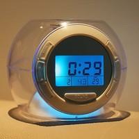 Colorful lights alarm clock transparent circle fashion alarm clock alarm clock lazy alarm clock alarm clock