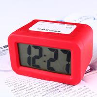 Super dimensional led brief fashion alarm clock lazy alarm clock silica gel electronic alarm clock quieten luminous