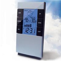 Lounged fashion alarm clock silent alarm clock backlight big screen thermometer alarm clock luminous lamp