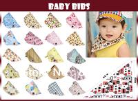 Free Shipping! Fashion Cotton Baby Bibs Toddler Stay Dry Dribble Bandana Triangle Infant Towel Children Head Scarf Kids Boy Girl