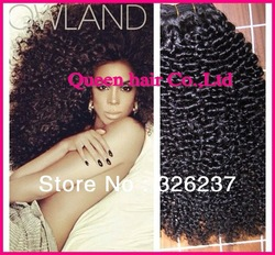 Queen Perfect Hair:100% Real 5A Malaysian virgin hair,Kinky curl,mix length 3pcs/lot,100g/piece,durable product(China (Mainland))