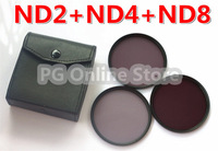 Free shipping+tracking number  58mm ND2+ND4+ND8 3 Piece Neutral Density Filters Kit Series