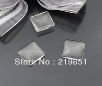 15mm transparent square shape glass cabochon,pendant setting cabochon 21