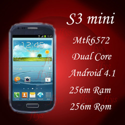 i8190 Mini i9300 mtk6577 Andorid 4.1.1 4.0inch 800*480 IPS+WIFI Smart phone full 1:1 Root Full view screen #1(China (Mainland))