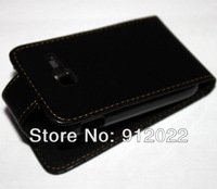 BLACK LEATHER FLIP POUCH BAG COVER CASE FOR Samsung Galaxy Y Duos S6102 + SCREEN