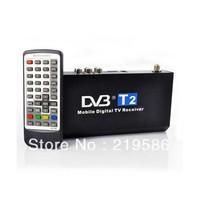 Hot sale Thailand Russian  dvb-t2 tuner support pvr dvb-t hd  dvb t2 receiver Mobile Digital Car DVB-T2 H.264 MPEG4 HD 40km/h