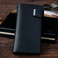 Loccot male cowhide wallet long design wallet fashion black classic man bag hasp