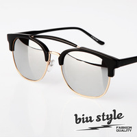 Biustyle . 2013 fashion cool vintage reflective mirror sunglasses sun glasses male Women