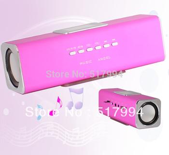 MP3 Player LCD Screen Audio Box FM Radio U-disk Micro SD Slot Digital Speaker free shipping