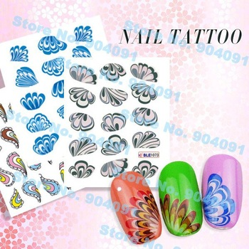 Retail Flower Series Nail Tattoo,nail Sticker NEW Nail Fashion Film Nail Patch Art Product.free shipping,28 different design