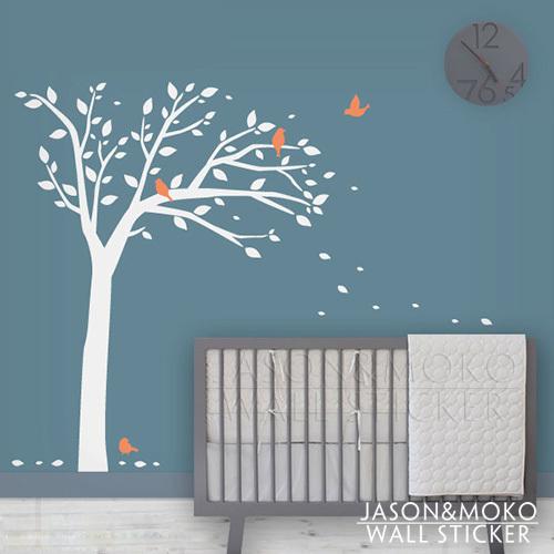 vogelboom muur sticker- kinderen muurstickers- moderne babykamer kunst ...