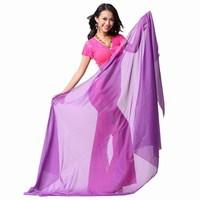 2013 Brand New Belly dance scarf dance scarf silk scarf big yarn veil 2.4 1.2m Free shipping