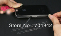 For Iphone 4 4G 4S Crystal Transparent edge side screen protector,  100pcs/lot free shipping