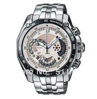 New EF-550D-7AV Men's Chronograph Sport Watch EF-550D EF 550D White Dial Wristwatch 1/1 second stopwatch