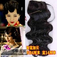 Hadnd corrugated wig fringe cheongsam wig with bangs wig hair piece