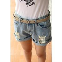 Denim shorts women shorts pants women jeans loose hole roll-up hem shorts plus size short jeans for women denim brands