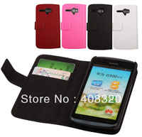 Original Doormoon Side Open Leather Case cover for HUAWEI U8836D G500 Pro Free shipping