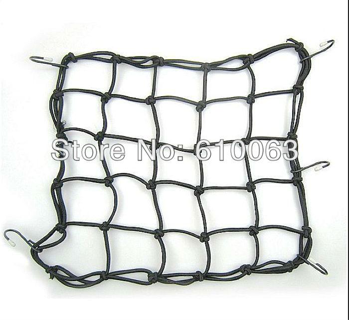 Atv motorcycle accessories Black 40x40 CM 6 Hooks Bungee Motorbike Motorcycle Cargo Net Helmet Net(China (Mainland))