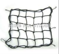 Atv motorcycle accessories Black 40x40 CM 6 Hooks Bungee Motorbike Motorcycle Cargo Net Helmet Net