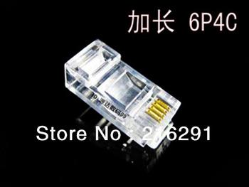 Free shipping RJ11 TELEPHONE connector JACK longer 6P4C modular plugs 100pcs/lot