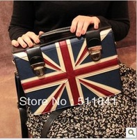 Free Shipping Union Jack PU handbag