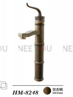 Luxury Classical Antique  Basin Faucets For bathroom Brass Mixing sinks tap HM8248 (Factory direct supply)
